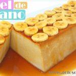 Pastel de plátano, banana o banano