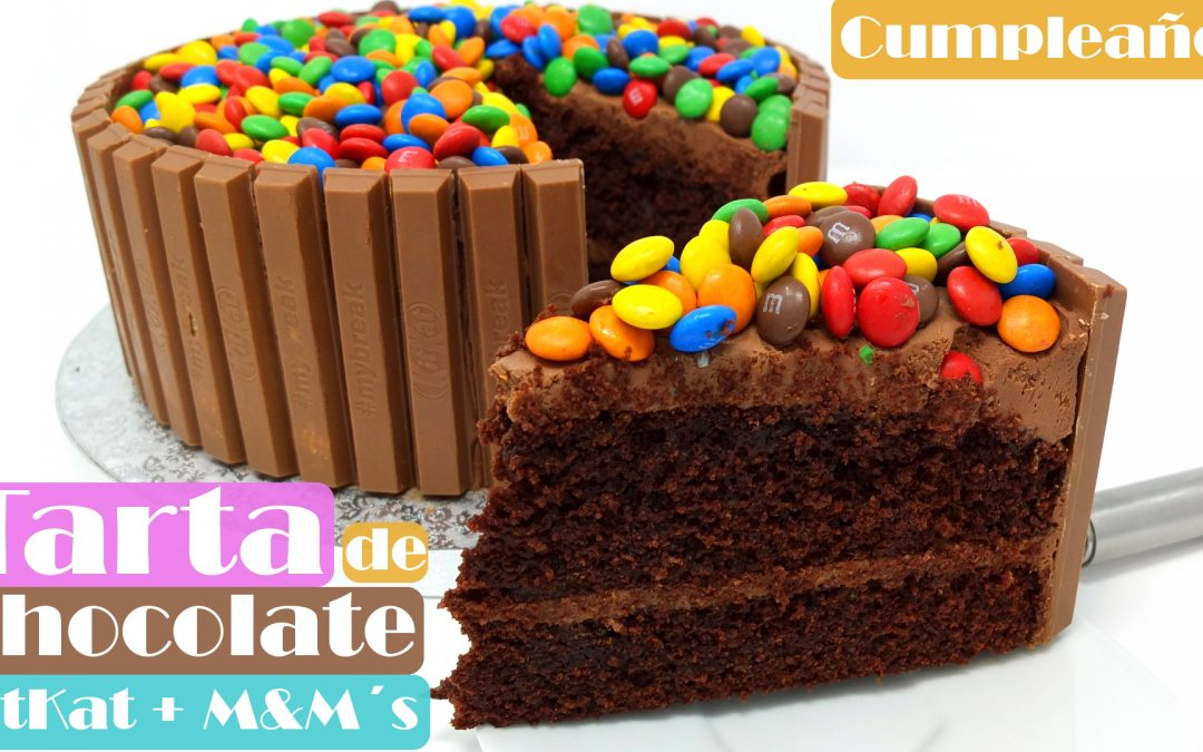TARTA de CHOCOLATE KITKAT & M&M´s