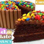 TARTA de CHOCOLATE KITKAT & M&M´s 🎂🍫(ideal CUMPLEAÑOS) Receta fácil🎂🍫