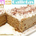 TARTA de GALLETAS y MOKA 🍰🍪 (SIN HORNO) 🍰🍪Receta Fácil postres