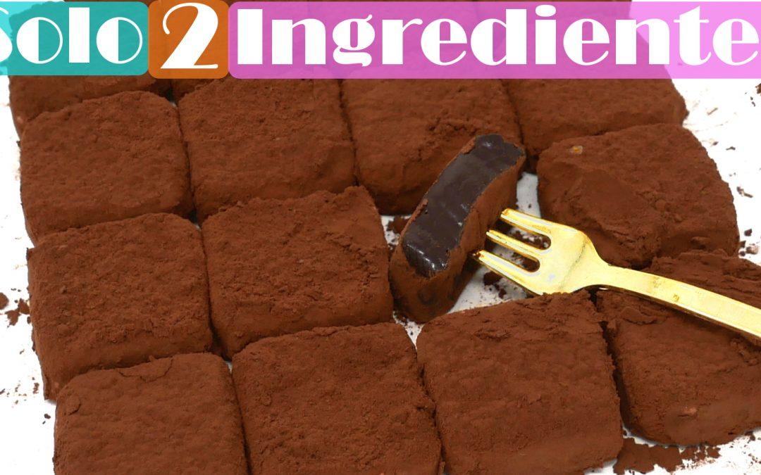 TRUFAS de LECHE CONDENSADA (2 INGREDIENTES)🍫😱, chocolates o bombones CREMOSOS🍫😱