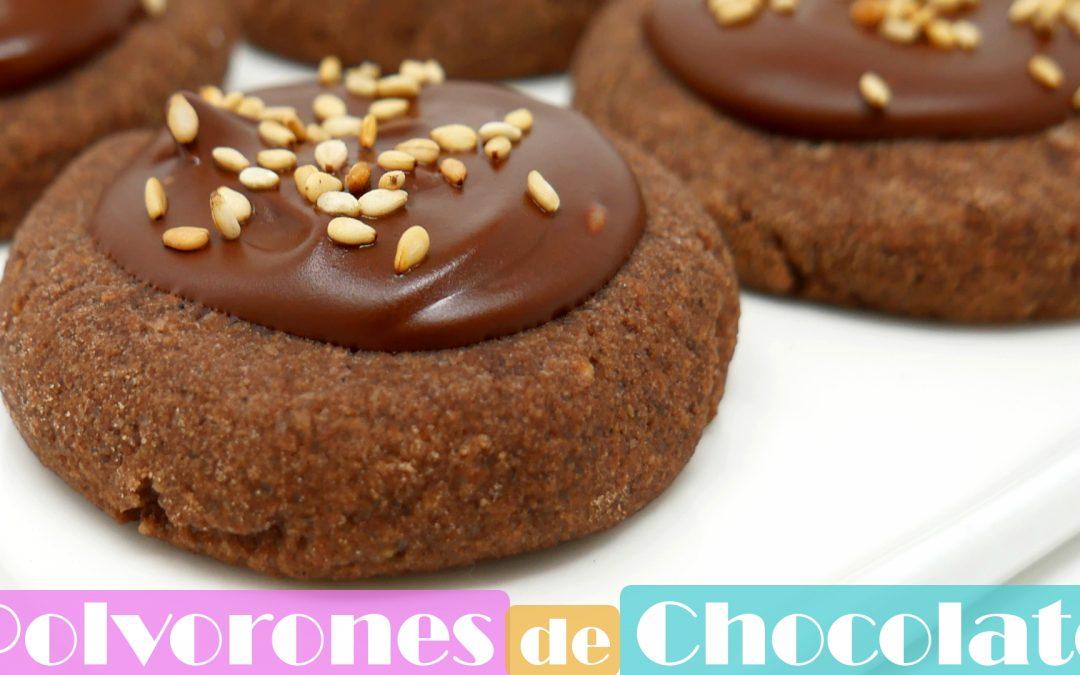 Polvorones de chocolate mantecados caseros