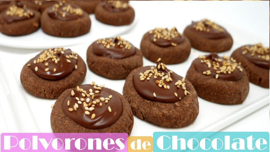 POLVORONES de CHOCOLATE 🎅🍫(receta fácil) MANTECADOS caseros🎅🍫