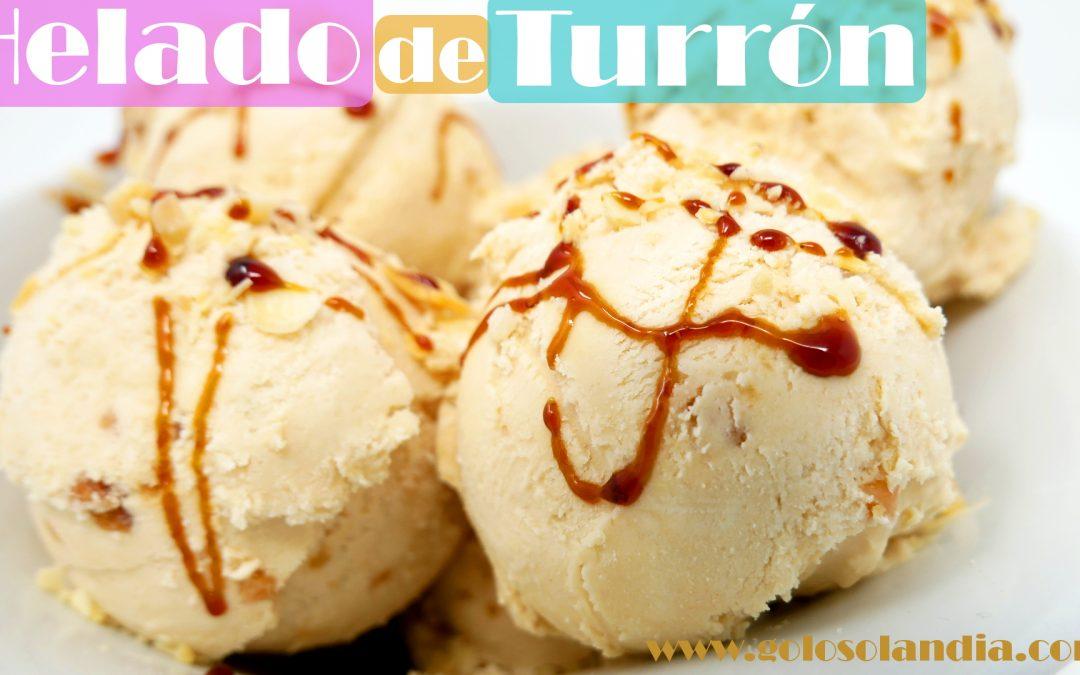 Helado De Turron Solo 4 Ingredientes Golosolandia Recetas Y Videos De Postres Y Tartas