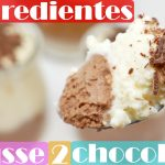 MOUSSE 2 CHOCOLATES con SOLO 3 INGREDIENTES😱🍫😱 (INCREÍBLE postre fácil)