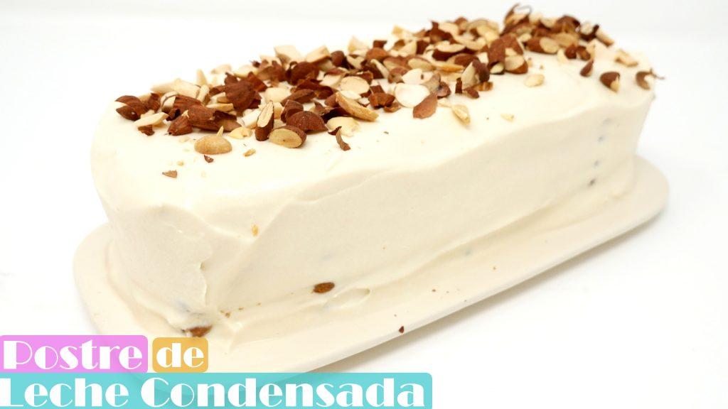 POSTRE de LECHE CONDENSADA🍰🥛🍰 (SIN HORNO pastel fácil con GALLETAS)🍰🥛🍰