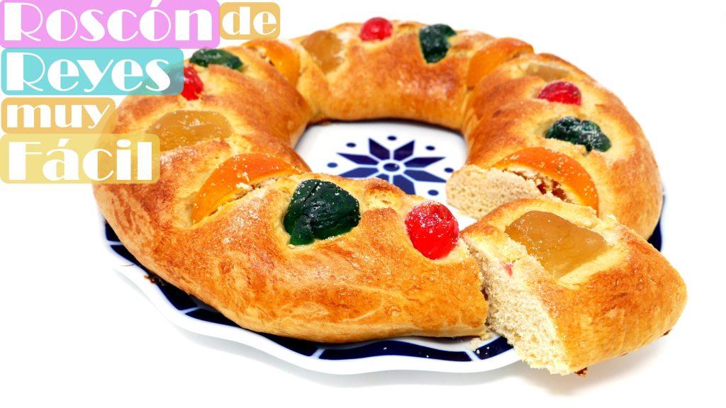 ROSCÓN de REYES MUY FÁCIL 🥐🎅🏽😱(Rosca, rosco o pastel de rey)🥐🎅🏽😱