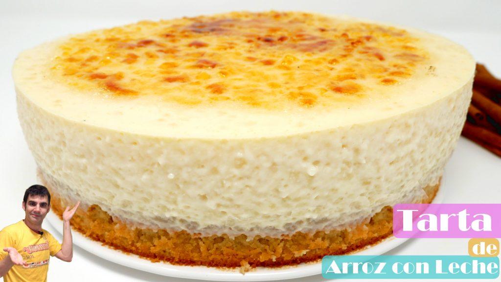 tarta de arroz con leche receta casera