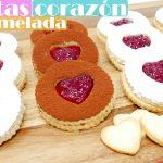 GALLETAS CORAZÓN de MERMELADA🍪❤️🍪 (pastas de MANTEQUILLA muy fáciles) Regalo de San Valentín🍪❤️🍪