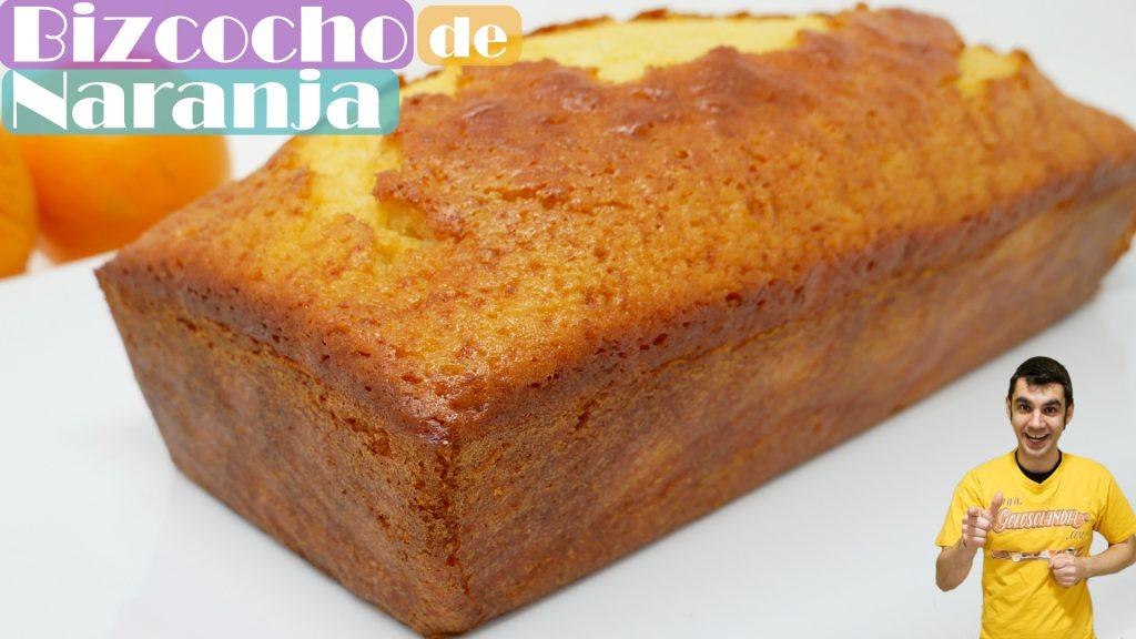 BIZCOCHO de NARANJA🍊🍞🍊 (SIN PESAR INGREDIENTES) jugoso y delicioso 🍊🍞🍊
