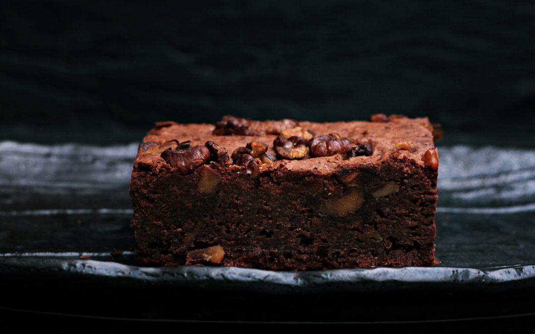 Receta de Brownie de chocolate en microondas
