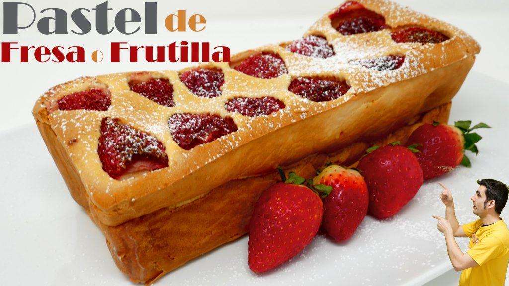 PASTEL de FRESA o FRUTILLA 🍓🍰🍓 (el más FÁCIL y RICO)🍓🍰🍓