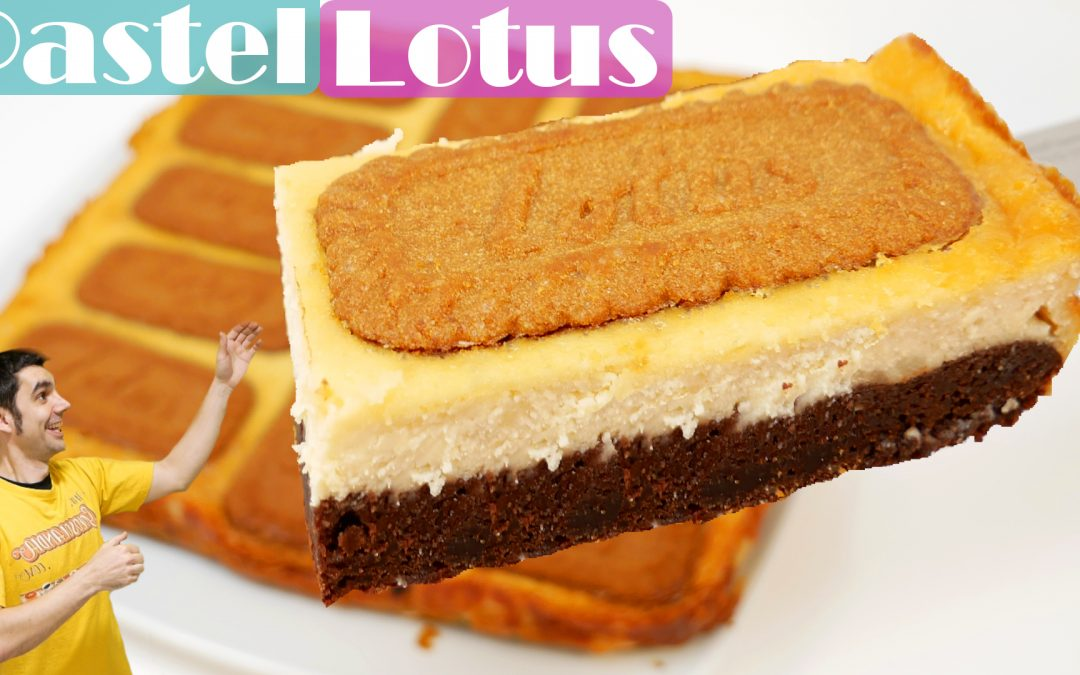 PASTEL LOTUS o de LOTO 🍫🍰🧀(BROWNIE + PASTEL de QUESO)🍫🍰🧀