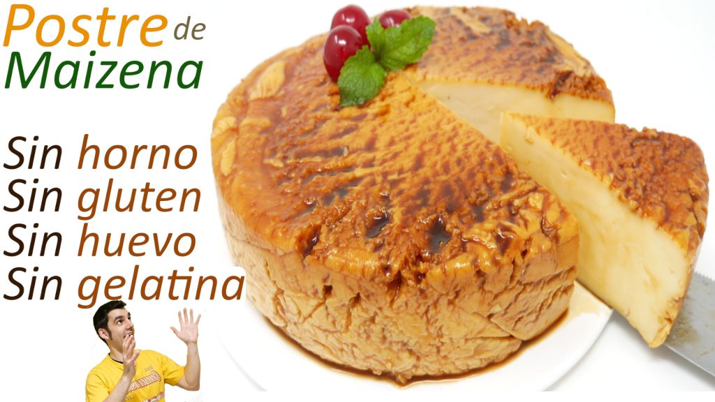 POSTRE DE MAIZENA 🍮😱| Pastel SIN HORNO, SIN HUEVO, SIN GLUTEN, SIN GELATINA🍮😱
