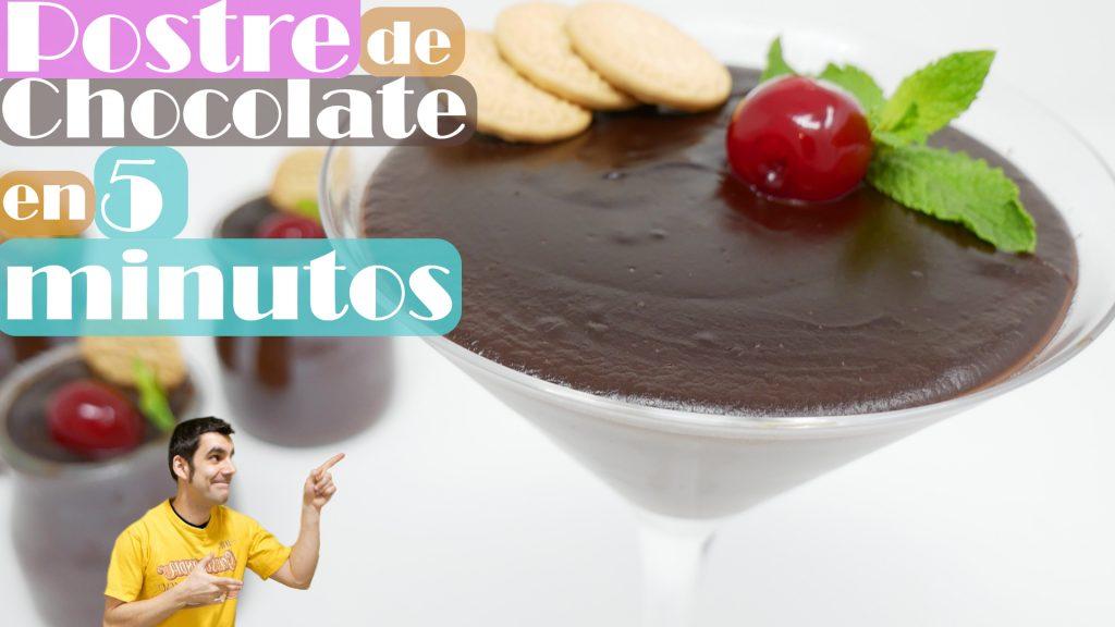 En solo 5 MINUTOS: POSTRE de CHOCOLATE 🍫🍨😍 cremoso delicioso y sorprendente🍫🍨😍