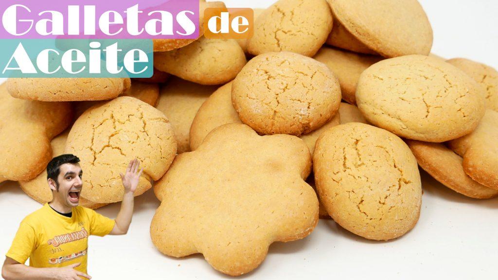 GALLETAS SIN MANTEQUILLA 🍪😍🍪 (galletas de ACEITE TIERNAS y DELICIOSAS)