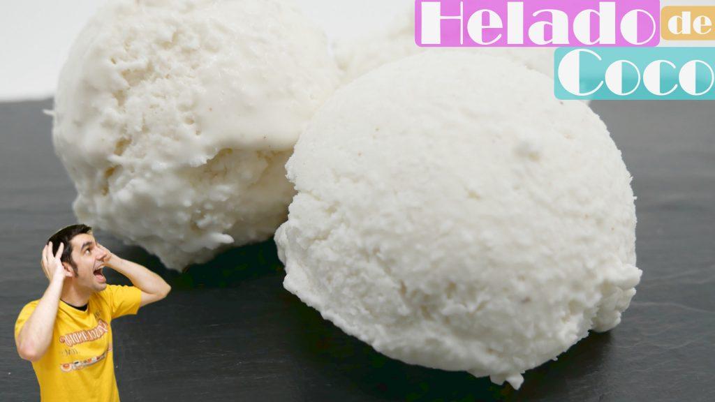 HELADOS de COCO caseros CREMOSOS🥥🍧🍨 (4 Ingredientes) SIN MÁQUINA de helados