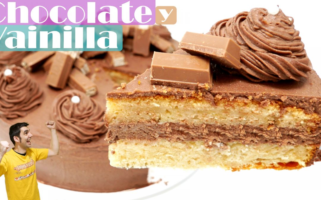 Tarta de chocolate y vainilla
