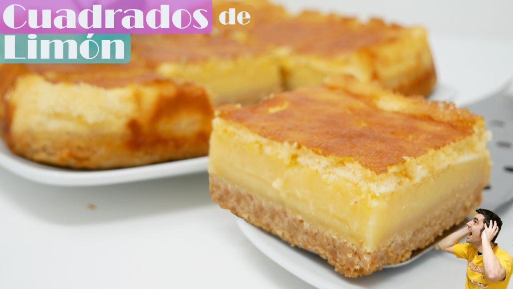 LEMON SQUARE CAKES 🍋🥧 | LEMON BARS | LEMONIES | 6 INGREDIENTS🍋🥧