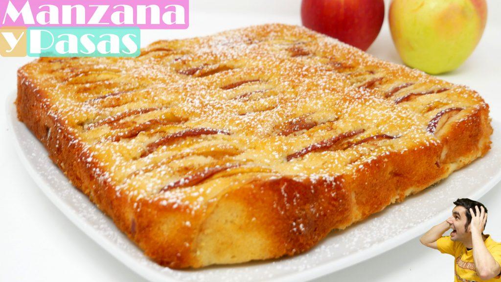 TORTA o PASTEL de MANZANA y PASAS | muy RICA FÁCIL y RÁPIDA!!🍏🥧🍎