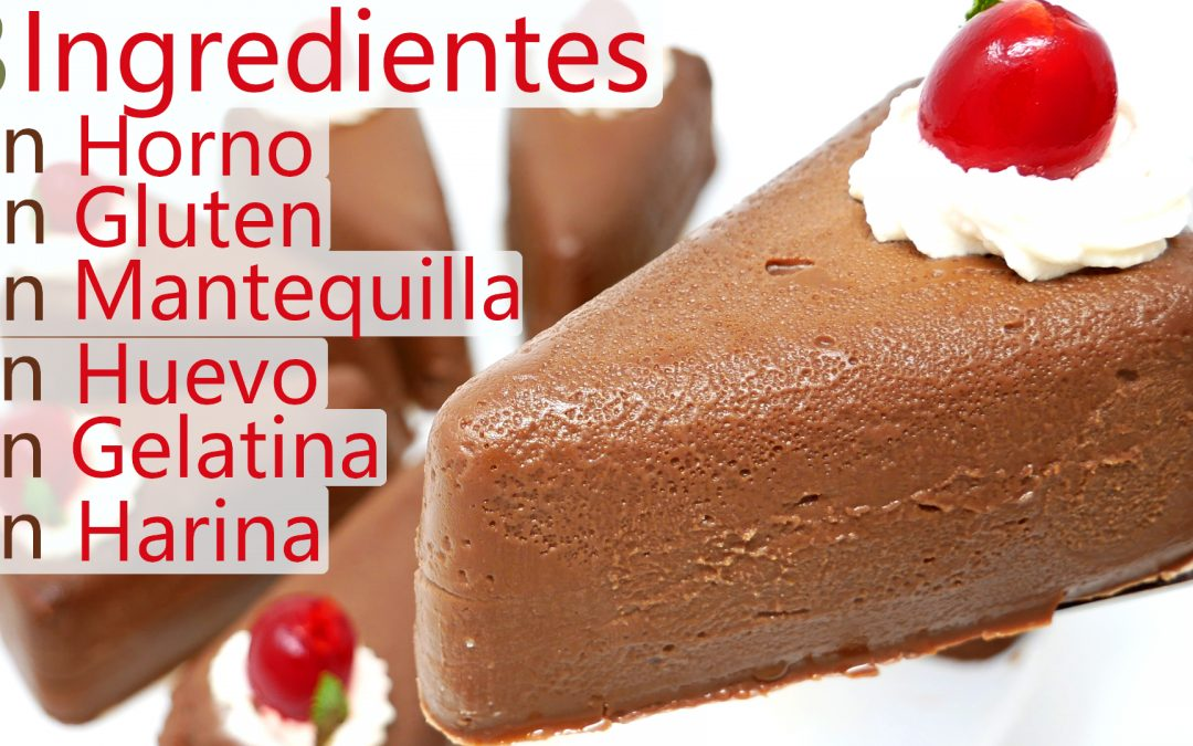 Pastel de chocolate 3 Ingredientes