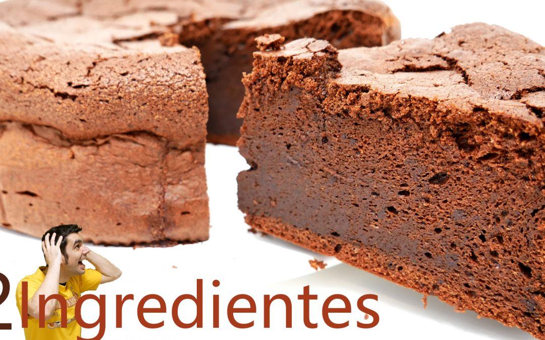 PASTEL de CHOCOLATE 2 INGREDIENTES