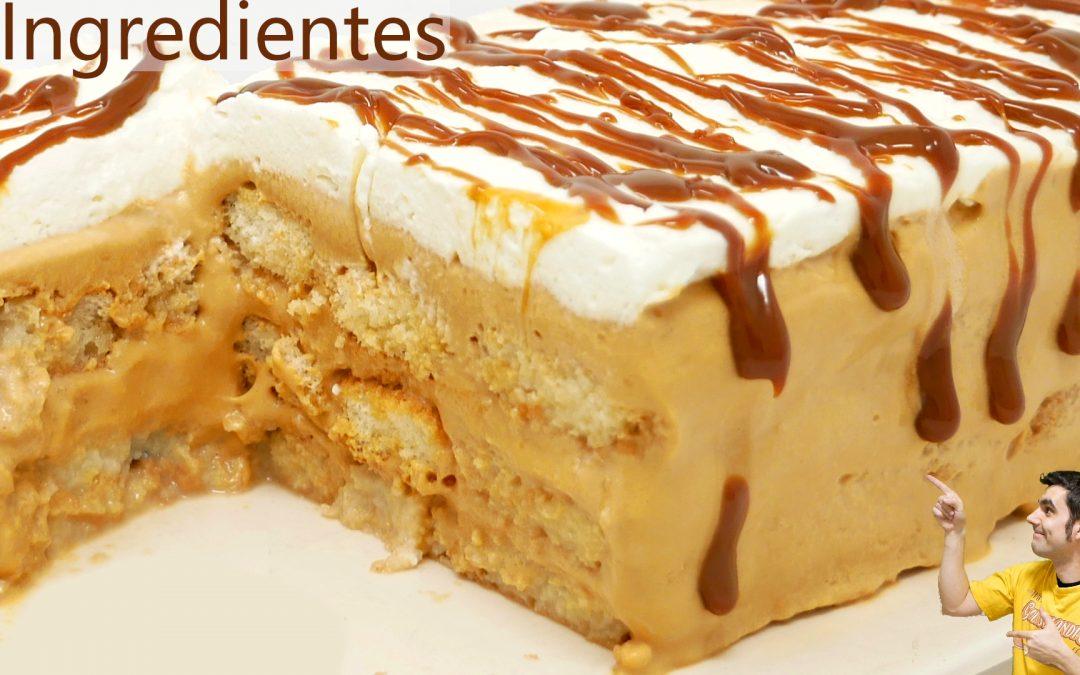PASTEL con solo 3 INGREDIENTES de DULCE de LECHE delicioso 🍰🥧¡SIN HORNO y SIN GELATINA!🍰🥧