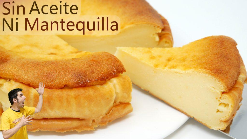 ¡SIN HARINA, SIN GRASA, SIN ACEITE y SIN MANTEQUILLA! Pastel cremoso menos calorías😍🍰😍5 Ingredientes