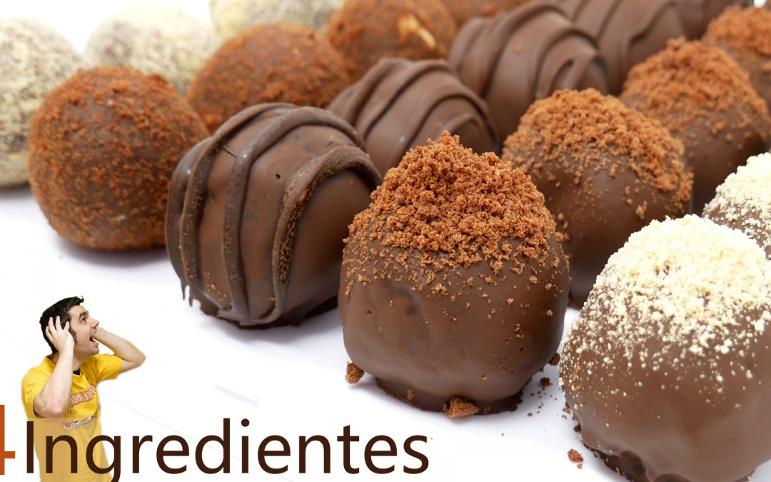 Bolas de chocolate y galleta