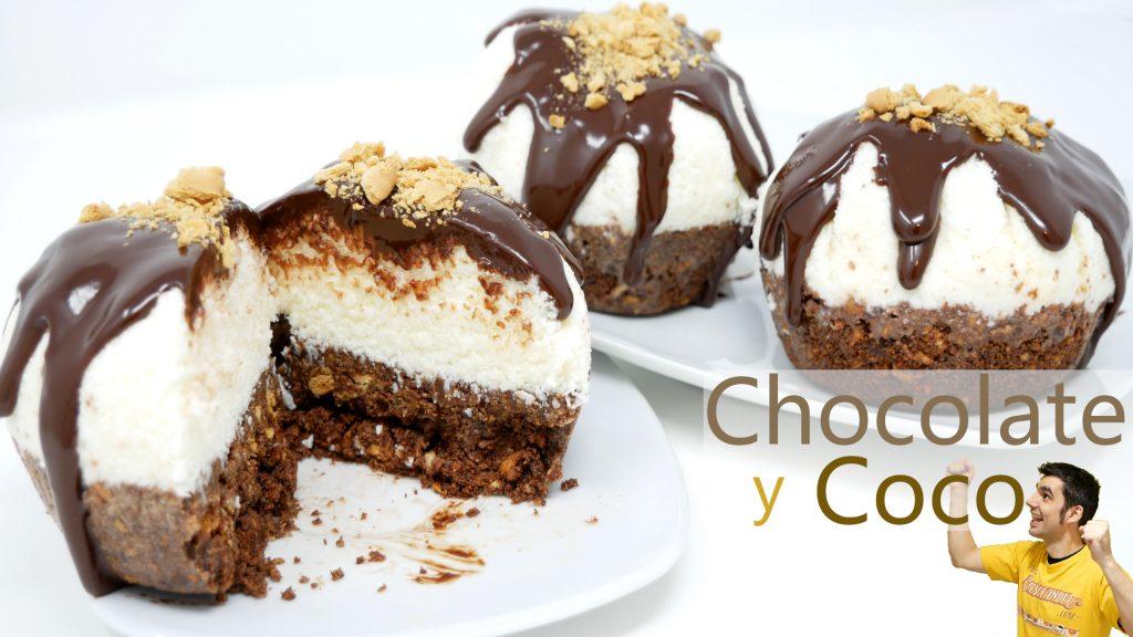 PASTEL de CHOCOLATE y COCO SIN HORNO y SIN MOLDES ¡¡¡ QUE DELICIOSO!!!🍫😍🥥 tienes que PROBARLO 🍫😍🥥