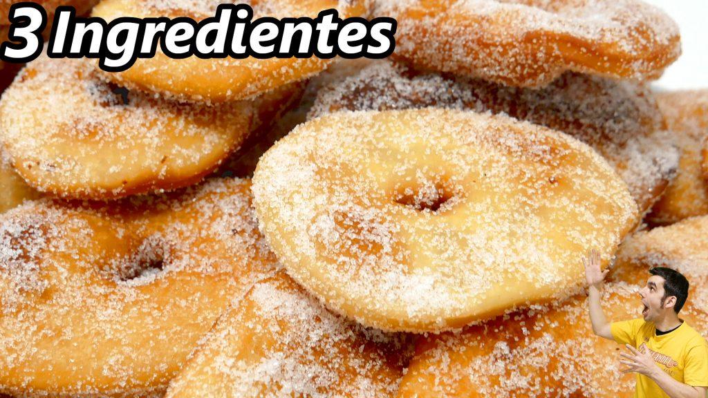 TORTAS FRITAS la RECETA MAS FÁCIL en MINUTOS (SOLO 3 INGREDIENTES) 😍🍩😋 / SIN HUEVO