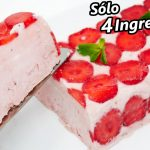 HELADO 4 INGREDIENTES 😍🍓😋¡SIN MÁQUINA para hacer helados! Receta FÁCIL y SIN HUEVO!
