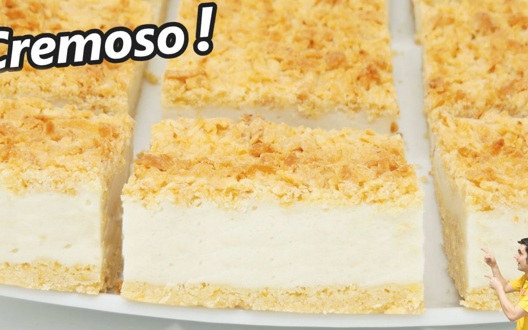 Pastel cremoso de yogur