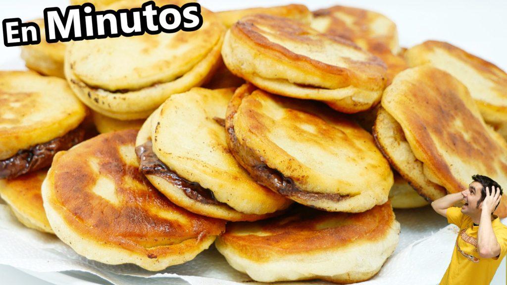 Con HARINA, LECHE y HUEVO receta para el desayuno o merienda ¡Muy FÁCIL y RICO!😍🥯😋 TORTITAS RELLENAS