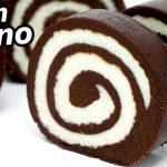 PASTEL DE CHOCOLATE con LECHE FÁCIL en ROLLO 😍🍫😋 (SIN HORNO, SIN HUEVO, SIN GELATINA) Receta # 720 🍫