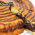 Receta RÁPIDA de PASTEL CEBRA muy JUGOSO , ESPONJOSO. FÁCIL y DELICIOSO😍🍰😋 Bizcocho o queque # 715