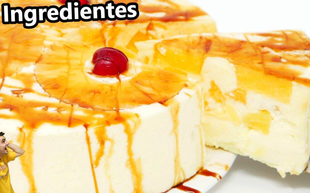 Pastel de piña 3 ingredientes