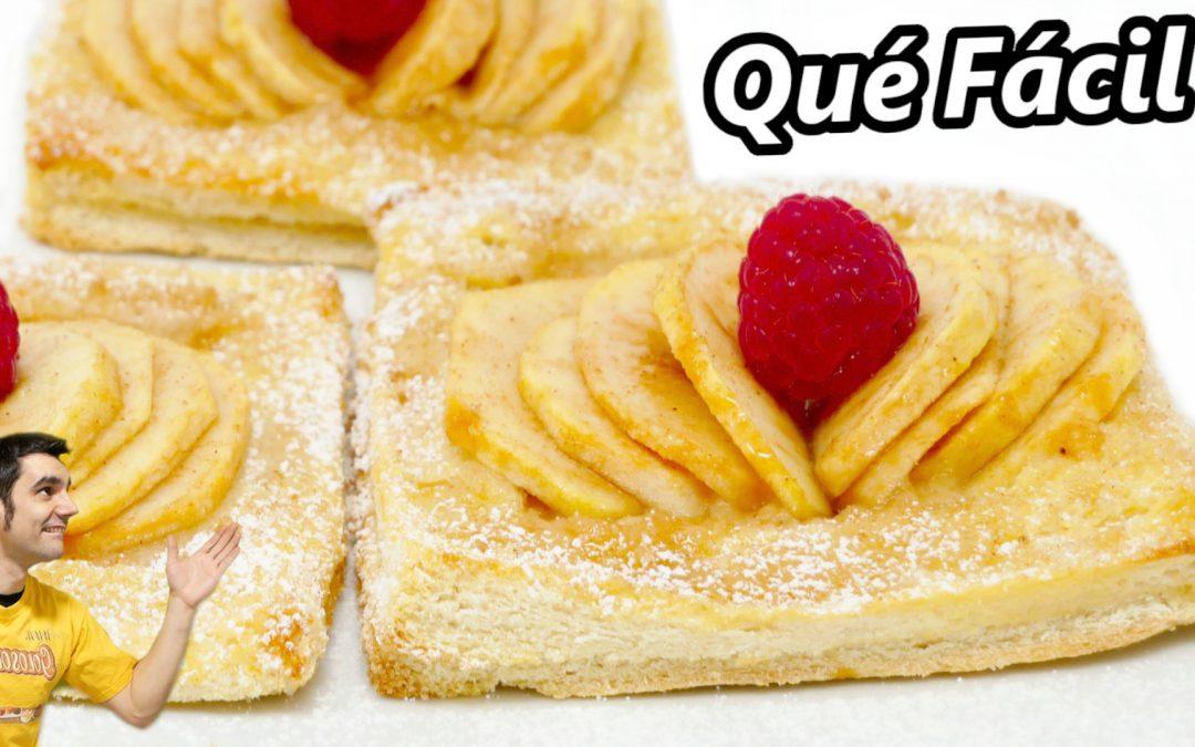pastel de manzana con pan de molde